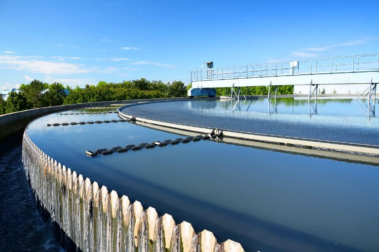 modern wastewater treatment plant